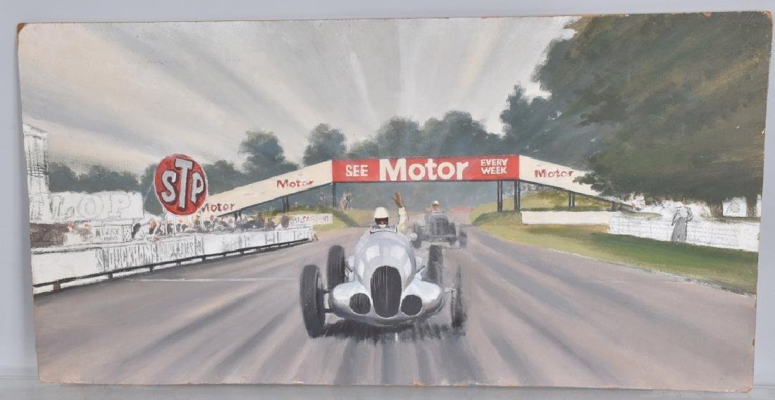 """ROB ROY RACE CAR PAINTING """"LAST KNOWN WORK"""""""