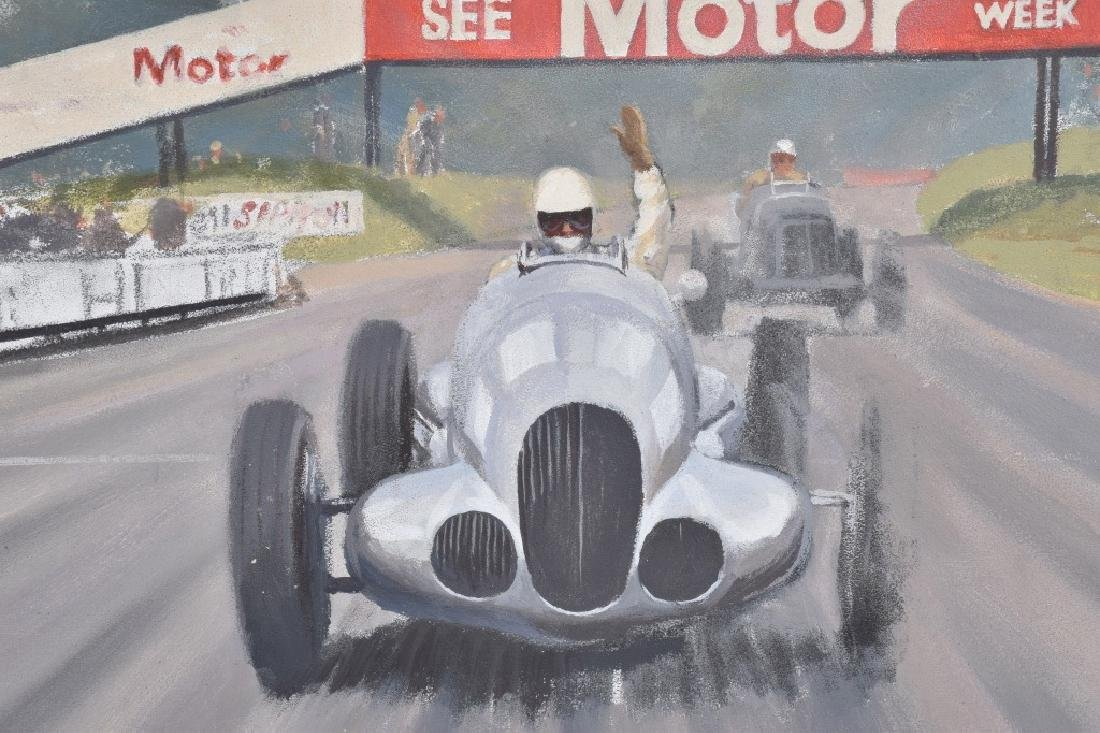 """ROB ROY RACE CAR PAINTING """"LAST KNOWN WORK"""" - 2"""