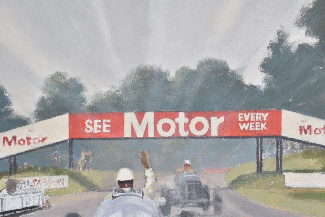 """ROB ROY RACE CAR PAINTING """"LAST KNOWN WORK"""" - 4"""