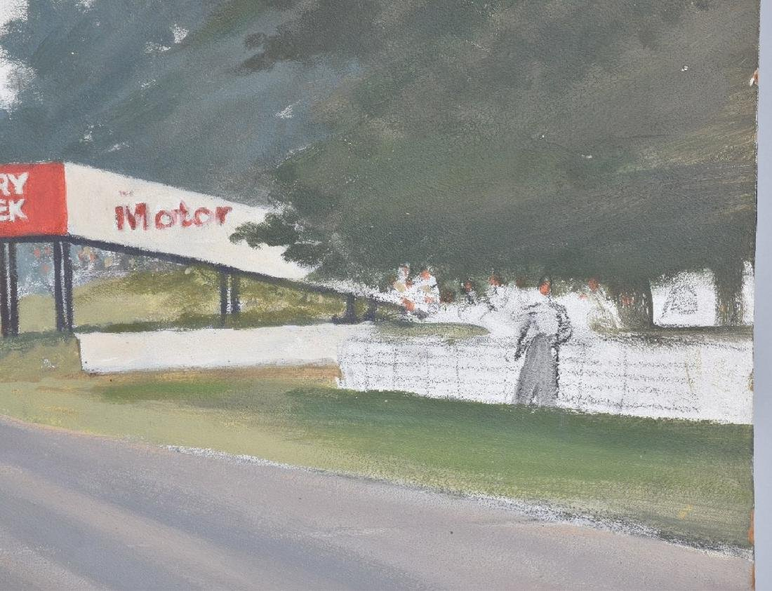 """ROB ROY RACE CAR PAINTING """"LAST KNOWN WORK"""" - 5"""