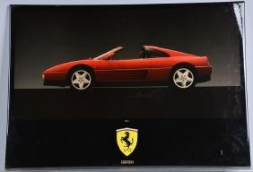 FERRARI 348 ts DEALER SHOWROOM ADVERTISING SIGN