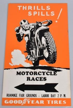 VINTAGE MOTORCYCLE RACES SIGN