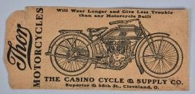 EARLY 1900s THOR MOTORCYCLE TRADE CARD