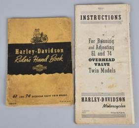 1940s HARLEY DAVIDSON RIDERS HAND BOOK & MORE