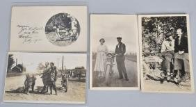 4- EARLY MOTORCYCLE POSTCARDS