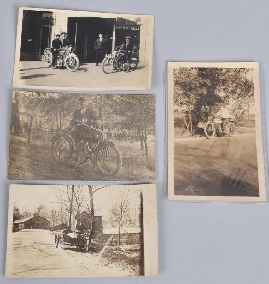 4- EARLY MOTORCYCLE POST CARDS
