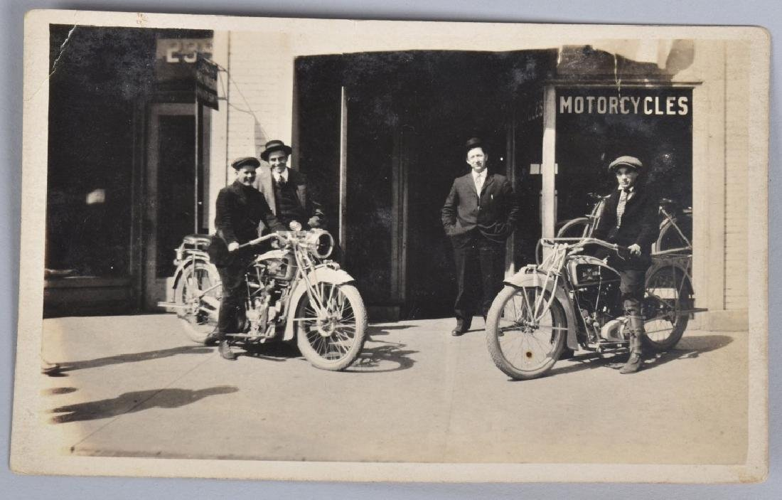 4- EARLY MOTORCYCLE POST CARDS - 2