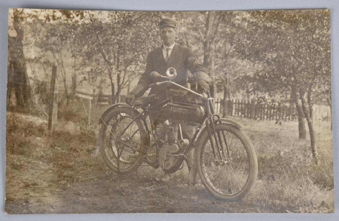 4- EARLY MOTORCYCLE POST CARDS - 3