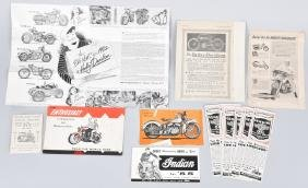 VINTAGE MOTORCYCLE EPHEMERA, HARLEY & MORE