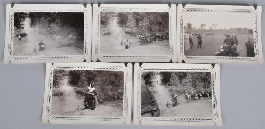 5- EARLY MOTORCYCLE HILL CLIMB PICTURES