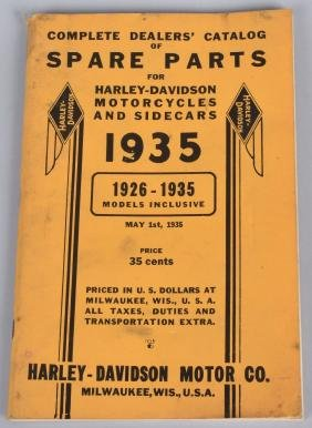 1926-1935 HARLEY DAVIDSON SPARE PARTS CATALOG
