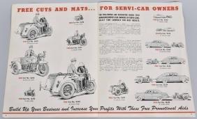 1930s HARLEY DAVIDSON SERVI CAR DEALER FLYER