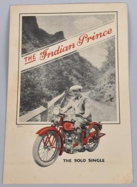 1928 INDIAN PRINCE MOTORCYCLE FLYER