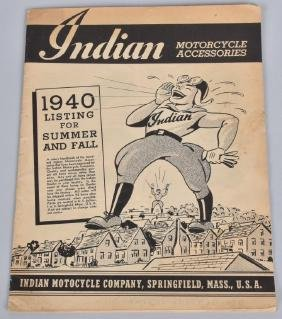 1940 INDIAN MOTORCYCLE ACCESSORIES CATALOG