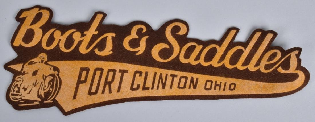 1960s BOOTS & SADDLES MOTORCYCLE CLUB PATCH
