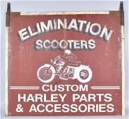 70s ELIMINATION SCOOTERS HARLEY DAVIDSON SIGN