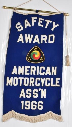 1966 AMA SAFETY AWARD FELT BANNER