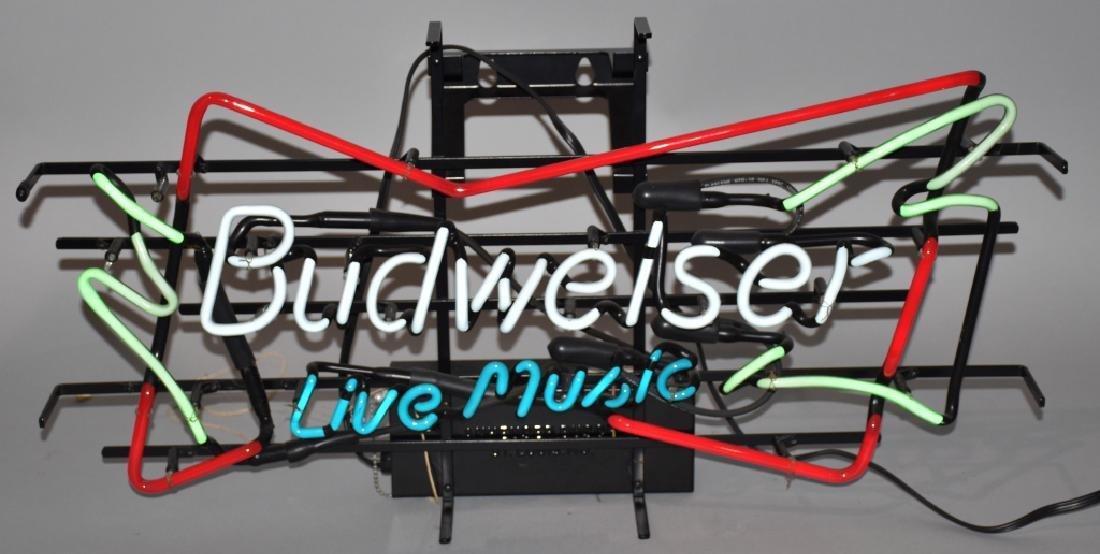 BUDWEISER LIVE MUSIC NEON LIGHT
