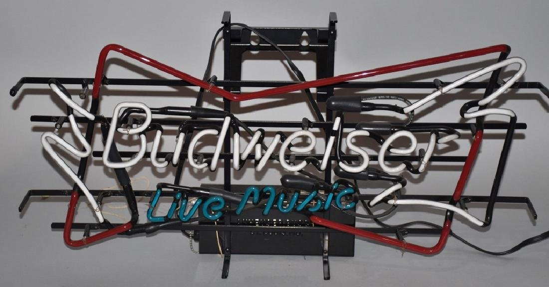 BUDWEISER LIVE MUSIC NEON LIGHT - 2