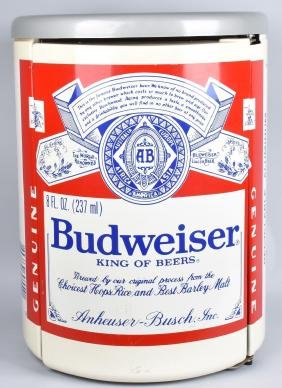 "35"" BUDWEISER BEER CAN MINI REFRIGERATOR"