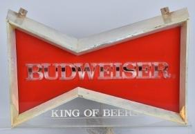 VINTAGE BUDWEISER BOWTIE LIGHTED SIGN