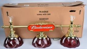 VINTAGE BUDWEISER CRYSTAL POOL TABLE LAMP NOS