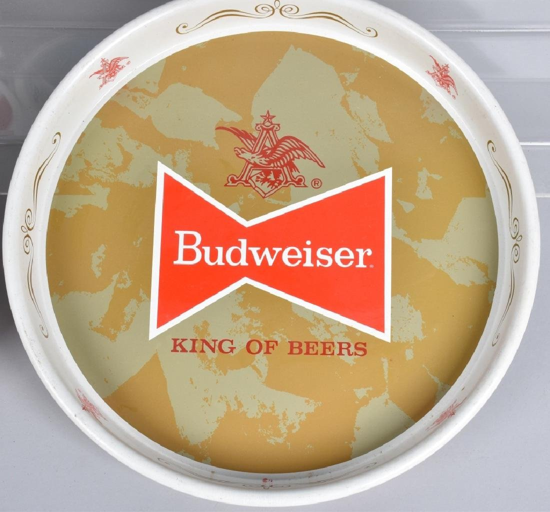 5- VINTAGE BUDWEISER SERVING TRAYS - 4