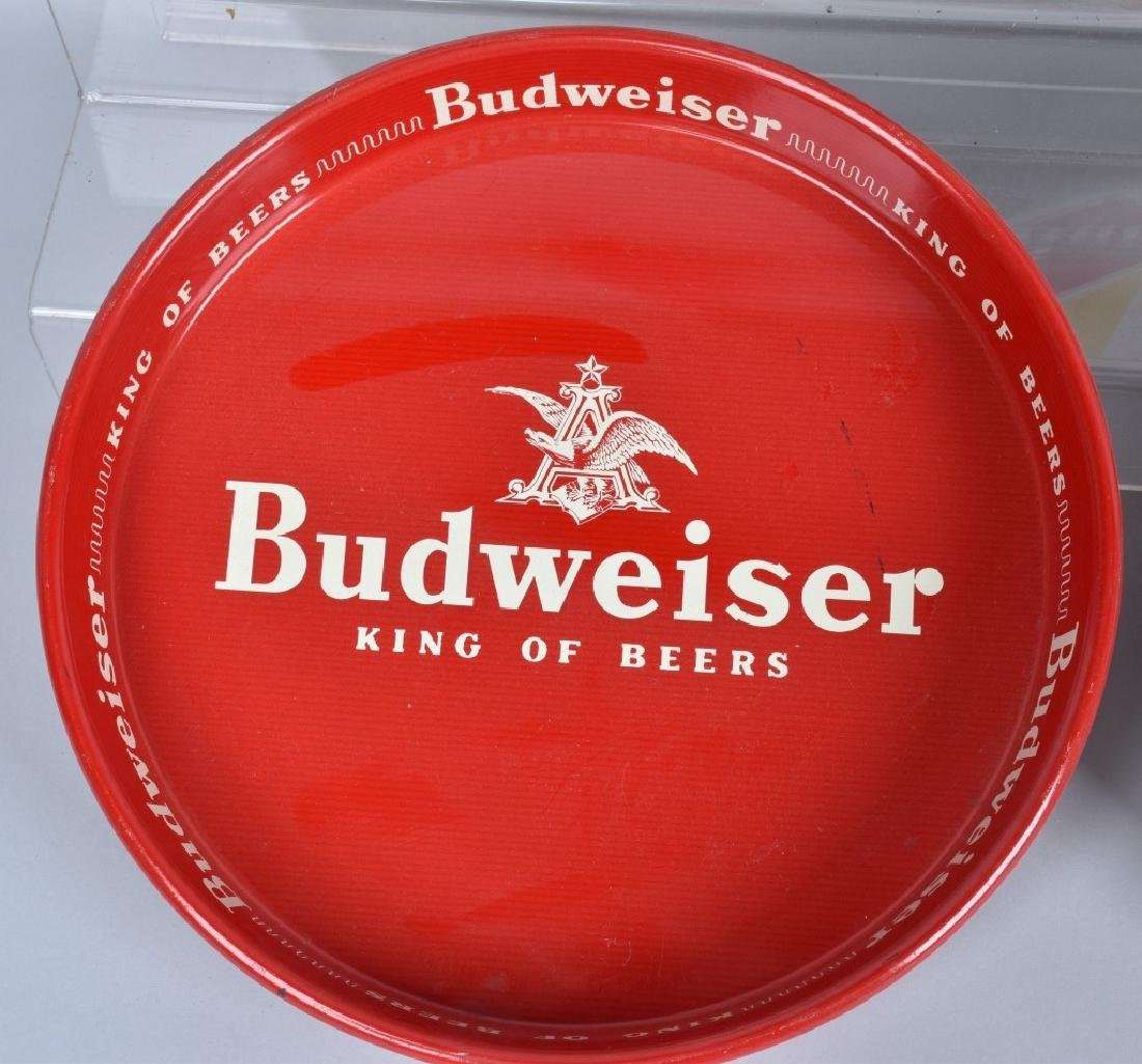 5- VINTAGE BUDWEISER SERVING TRAYS - 6