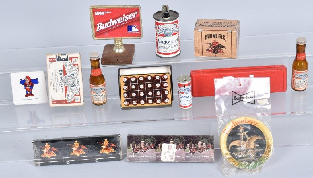 Lot of VINTAGE BUDWEISER ITEMS