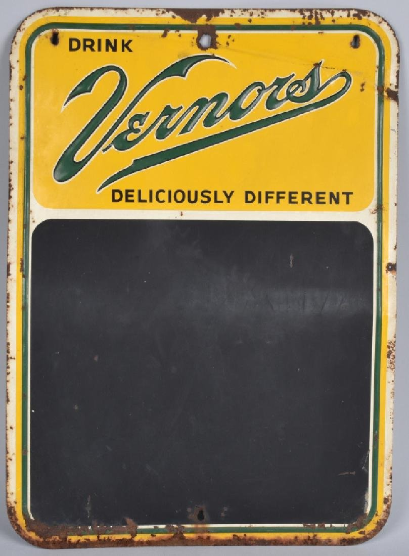 VERNORS TIN CHALKBOARD SIGN