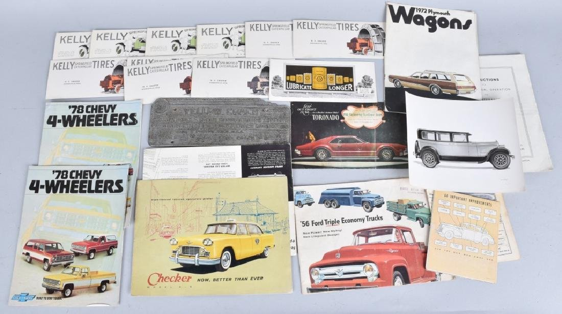 Lot of AUTOMOTIVE RELATED ITEMS