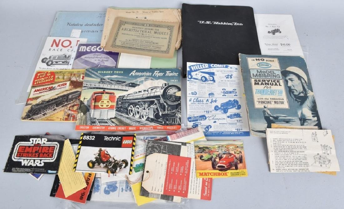 Lot of VINTAGE TOY CATALOGS & PAPERS