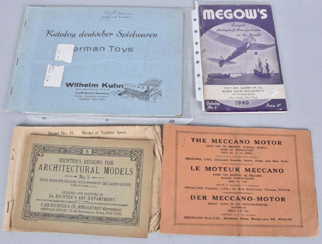 Lot of VINTAGE TOY CATALOGS & PAPERS - 3