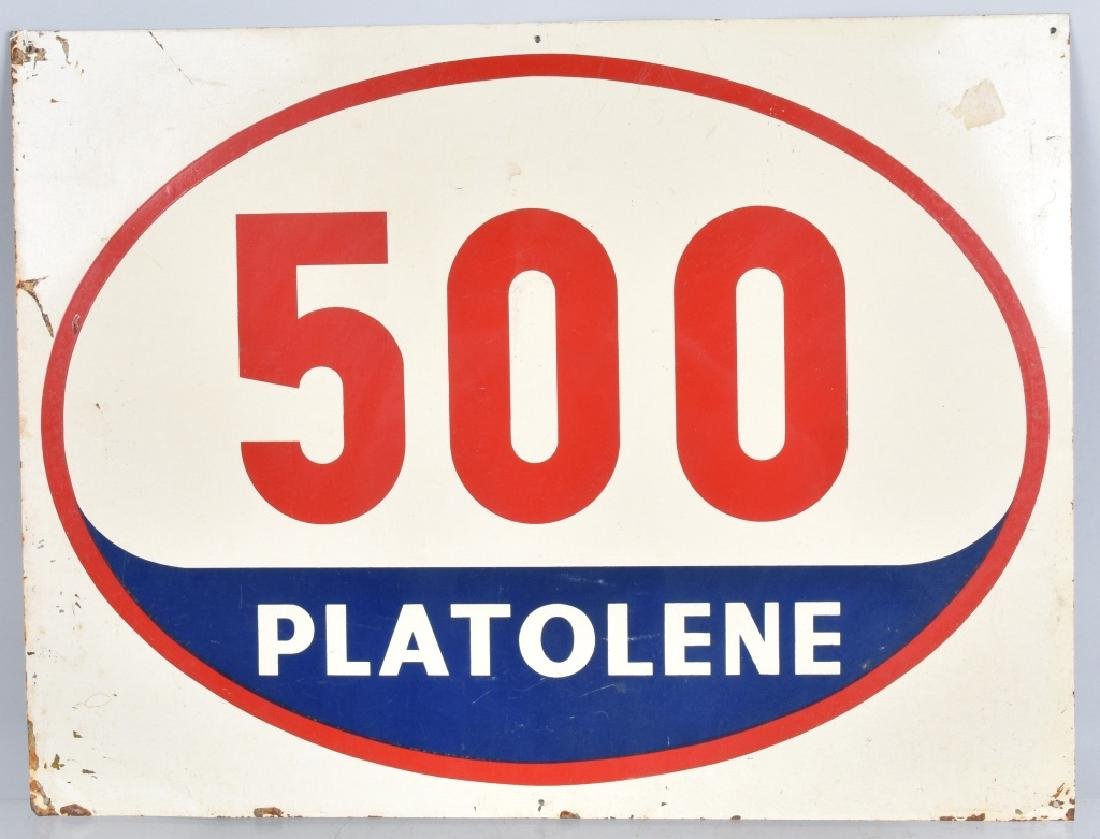 VINTAGE PLATOLENE TIN SIGN
