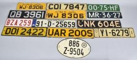 13- FOREIGN LICENSE PLATES