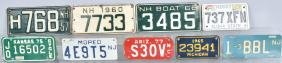 9- VINTAGE MOTORCYCLE & BOAT LICENSE PLATES
