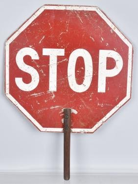 VINTAGE CROSSING GUARD SLOW-STOP SIGN