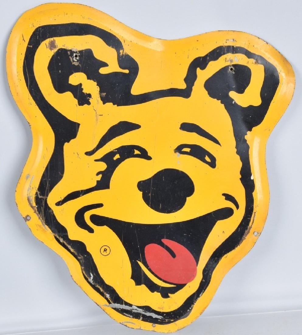 BEAR BRAKES diecut tin SIGN
