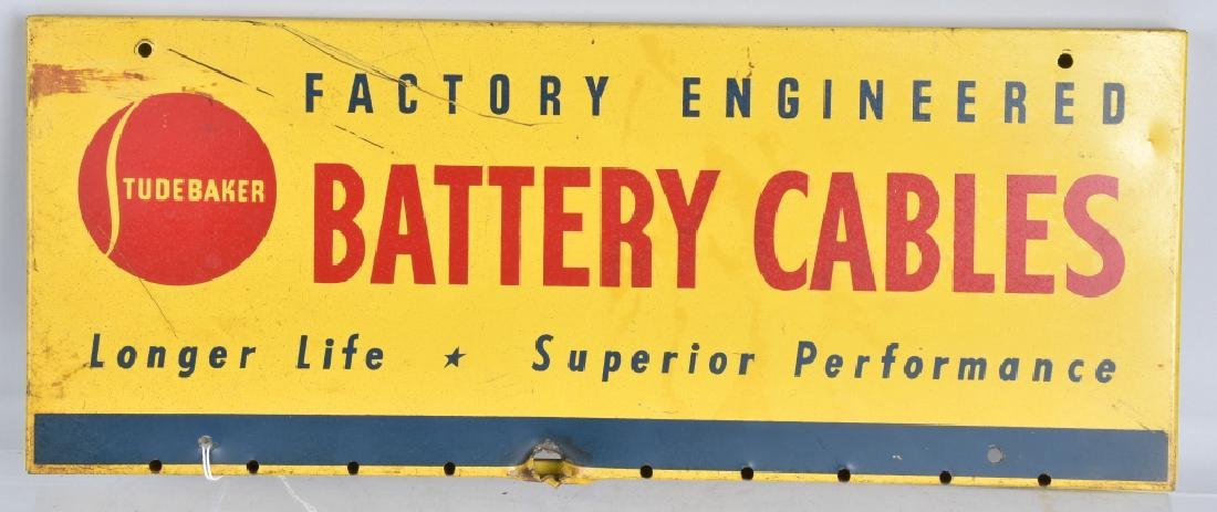 STUDEBAKER BATTERY CABLES TIN SIGN
