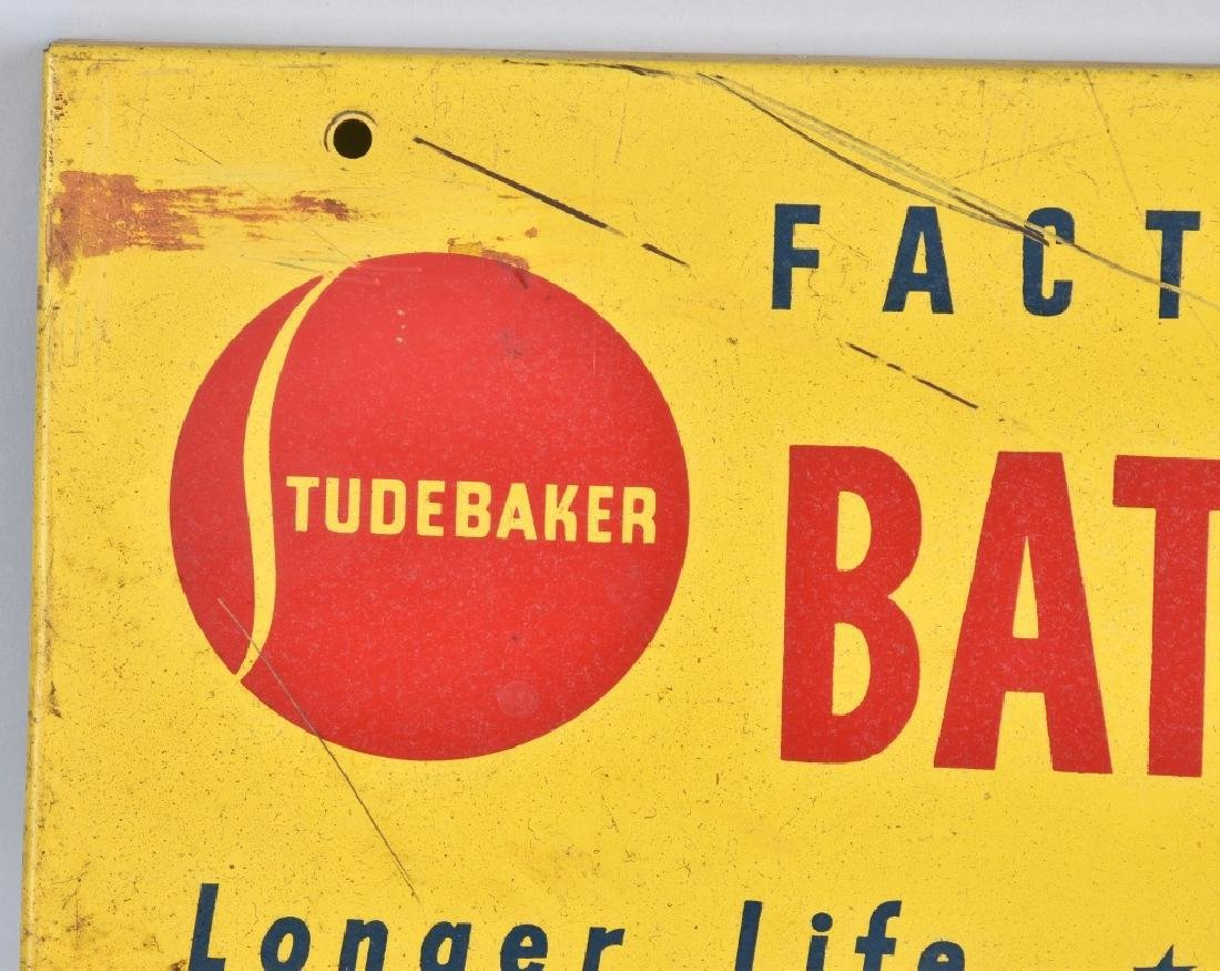 STUDEBAKER BATTERY CABLES TIN SIGN - 2