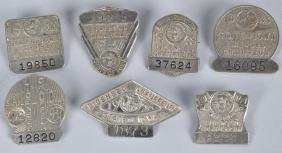 7- 1930S CHAUFFEUR BADGES FROM IOWA