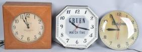2- WATCH ADVERTISING CLOCKS & TELECHRON CLOCK