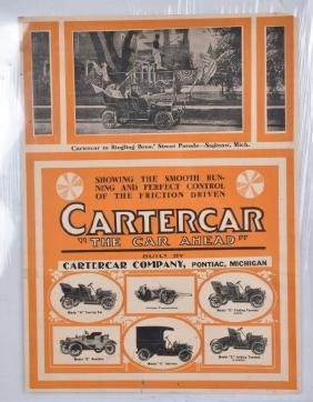 EARLY 1900s CARTERCAR ADVERTISING POSTER