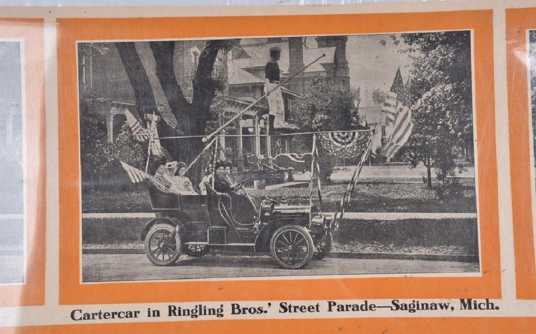 EARLY 1900s CARTERCAR ADVERTISING POSTER - 2