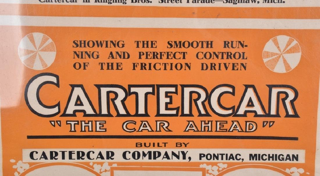EARLY 1900s CARTERCAR ADVERTISING POSTER - 3