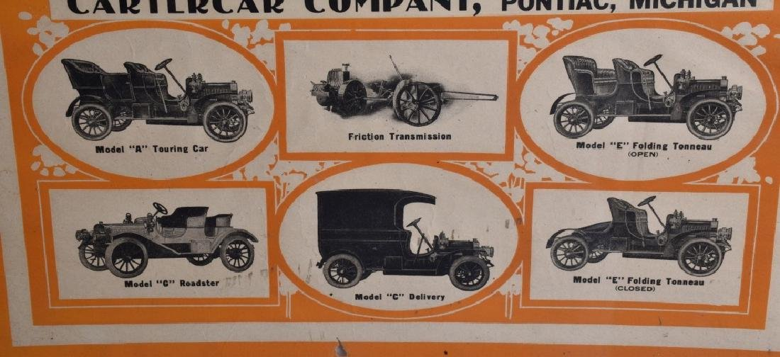 EARLY 1900s CARTERCAR ADVERTISING POSTER - 4