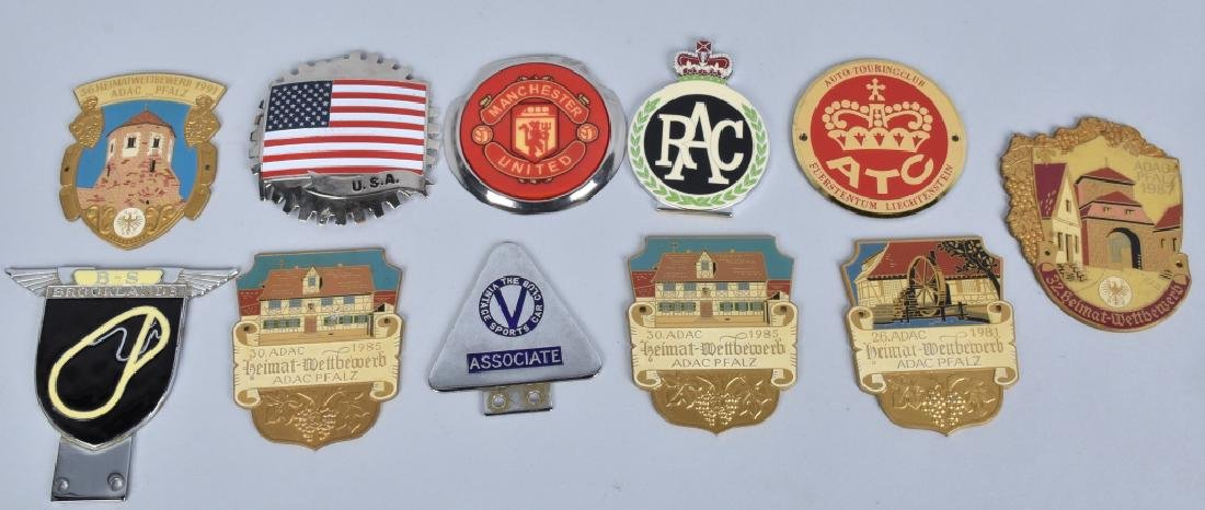 11- VINATGE AUTOMOBILE CLUB BADGES