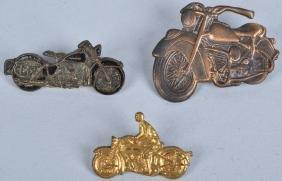 3- HARLEY DAVIDSON MOTORCYCLE PINS