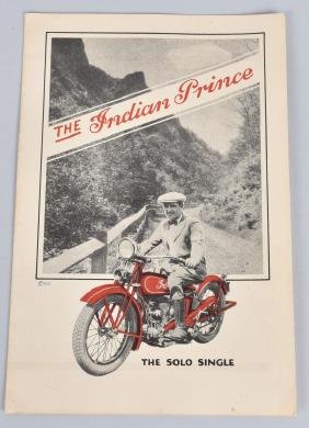 1928 INDIAN PRINCE MOTORCYCLE BROCHURE
