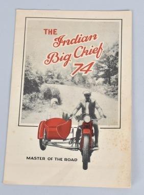 1928 INDIAN BIG CHIEF 74 MOTORCYCLE BROCHURE